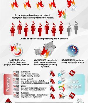 W Polsce corocznie powstaje ponad 150000 pożarów